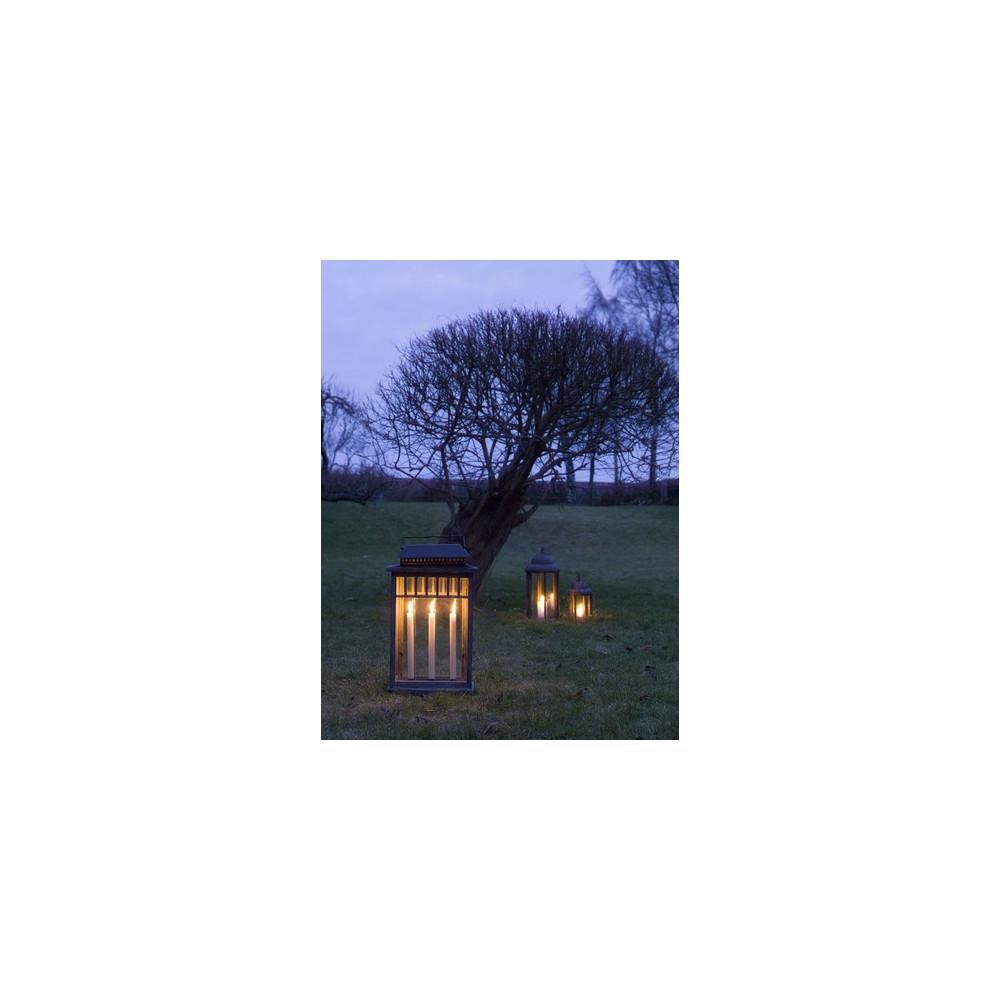 Lanterne en bois m tal et verre pour le jardin - Lanterne pour bougie exterieur ...