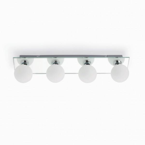 Luminaire salle de bain miroir 4 ou 5 ampoules applique for Applique salle de bain hotel