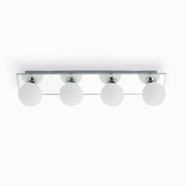 Luminaire salle de bain miroir 4 ou 5 ampoules - Applique salle de ...