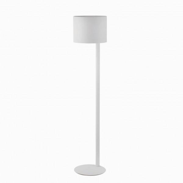 Lampadaire design métal blanc