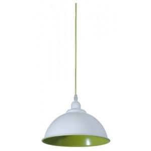 Suspension cuisine blanche et verte